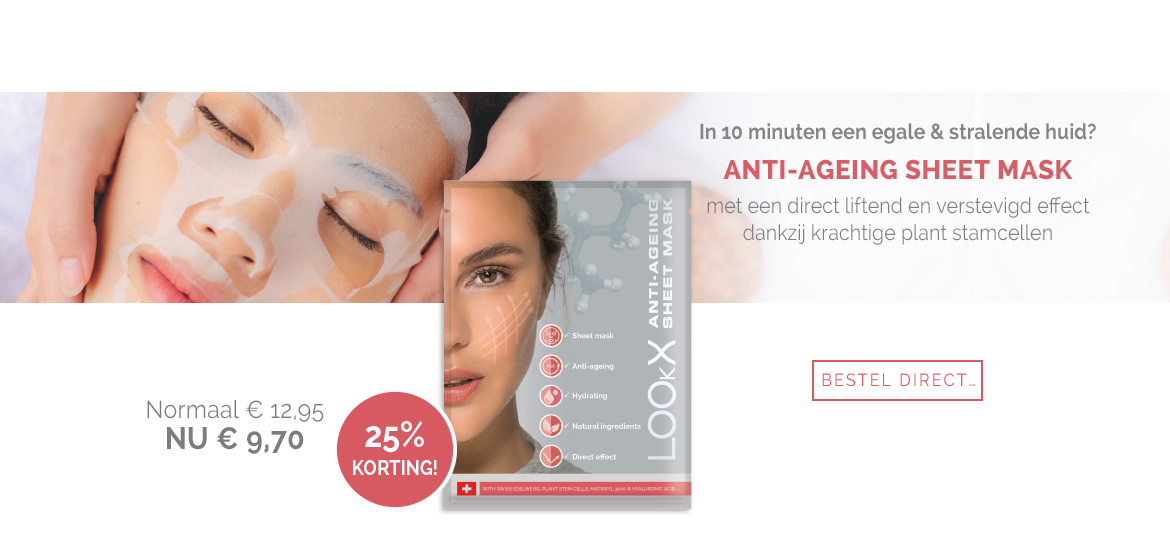 LOOkX Anti-ageing sheet mask promotie