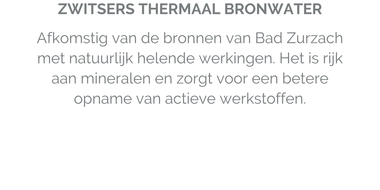 Zwitsers thermaal bronwater